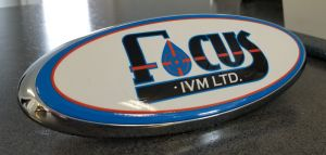 Wrap Vinyl applied to 3D logo; designed and printed by Insight Sign & Decal Co.